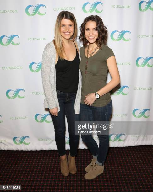 Actresses Gabrielle Christian and Mandy Musgrave attend the ClexaCon 2017 convention at Bally's Las Vegas on March 5 2017 in Las Vegas Nevada