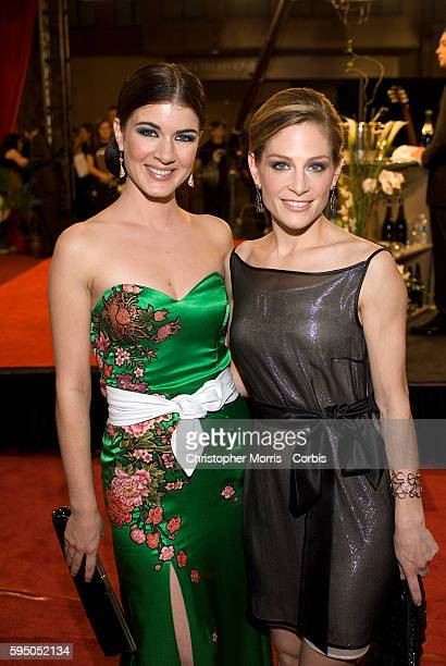 Actresses Gabrielle Miller and Tara Spencer Nairn attend the 21st annual Gemini Awards in Vancouver.