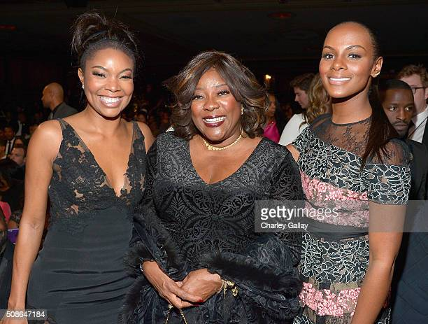 Actresses Gabrielle Union Loretta Devine and Tika Sumpter attend the 47th NAACP Image Awards presented by TV One at Pasadena Civic Auditorium on...