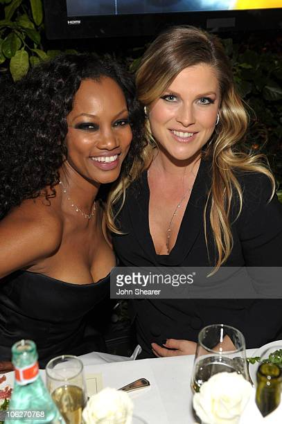 Actresses Garcelle Beauvais and Ali Larter attend the amfAR Inspiration Gala celebrating men's style with Piaget and DSquared 2 at Chateau Marmont on...