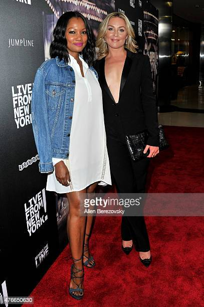 Actresses Garcelle Beauvais and Elisabeth Rohm arrive at the Los Angeles Premiere of Abramorama's Live From New York at Landmark Theatre on June 10...