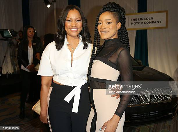 Actresses Garcelle Beauvais and Keke Palmer attend the 2016 ESSENCE Black Women In Hollywood awards luncheon at the Beverly Wilshire Four Seasons...