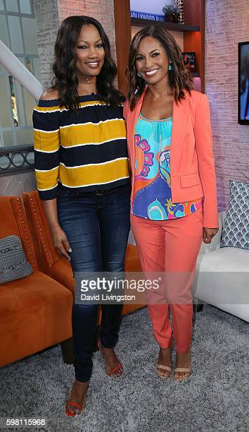 Actresses Garcelle Beauvais and Salli RichardsonWhitfield pose at Hollywood Today Live at W Hollywood on August 31 2016 in Hollywood California