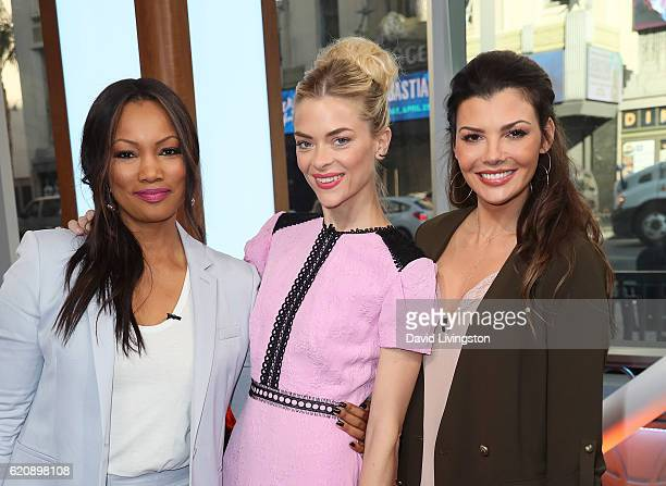 Actresses Garcelle Beauvais Jaime King and Ali Landry pose at Hollywood Today Live at W Hollywood on November 3 2016 in Hollywood California