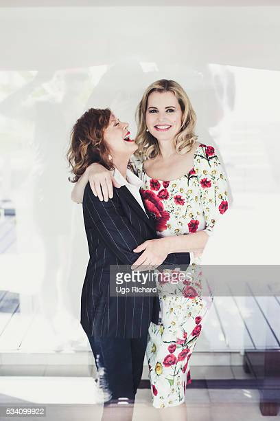 Actresses Geena Davis and Susan Sarandon are photographed for Gala on May 15 2016 in Cannes France
