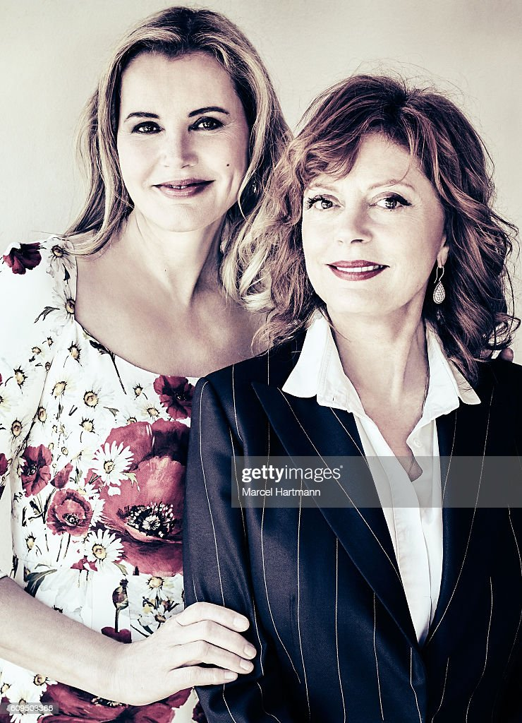 Actresses Geena Davis and Susan Sarandon are photographed for Vanity Fair Italy on May 12 2016 in Cannes, France.