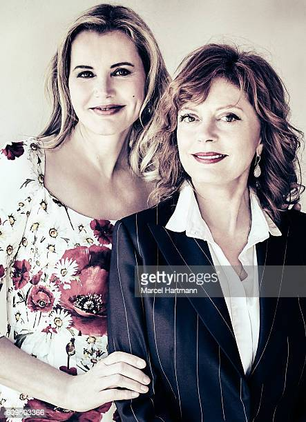 Actresses Geena Davis and Susan Sarandon are photographed for Vanity Fair Italy on May 12 2016 in Cannes France