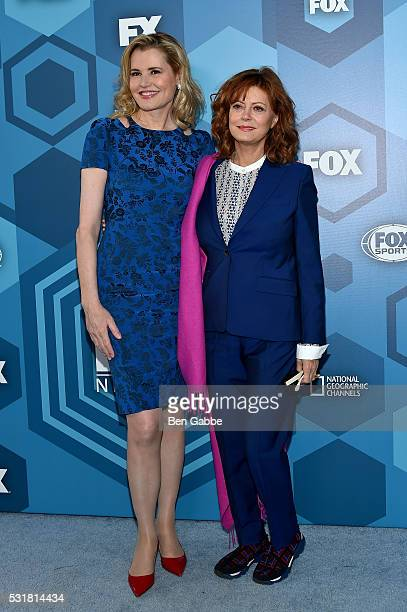 Actresses Geena Davis and Susan Sarandon attend FOX 2016 Upfront at Wollman Rink on May 16 2016 in New York City