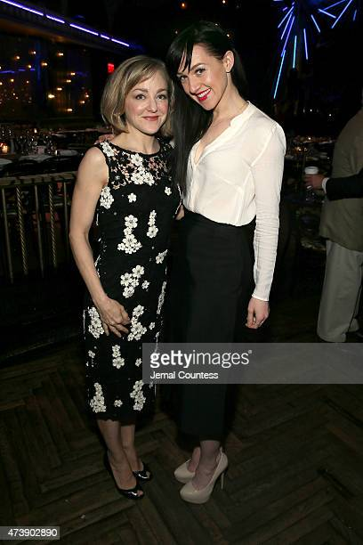 Actresses Geneva Carr and Lena Hall attend the 2015 Tony Awards Nominees' Luncheon at Diamond Horseshoe at the Paramount Hotel on May 15 2015 in New...