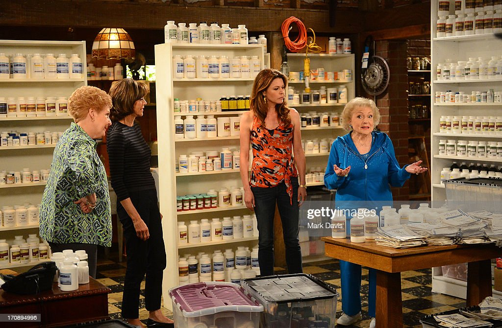 Actresses Georgia Engel, Wendie Malick, Jane Leeves and Betty White attend TV Land's 'Hot in Cleveland' Live Show on June 19, 2013 in Studio City, California. (TV Land's Hot in Cleveland goes LIVE at 10:00pm ET in the first LIVE broadcast in the channel's history. Betty White, Jane Leeves, Wendie Malick and Valerie Bertinelli are joined by guest stars William Shatner (Star Trek), Shirley Jones (The Partridge Family), Daniel Pudi (Community) and Brian Baumgartner (The Office).