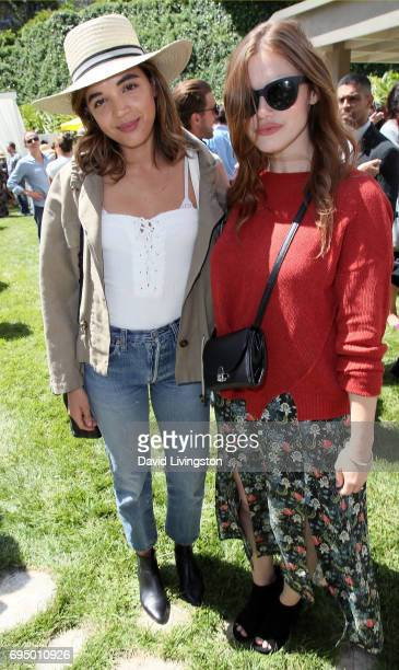 Actresses Georgie Flores and Holland Roden attend Children Mending Hearts 9th Annual Empathy Rocks Fundraiser at a private residence on June 11 2017...