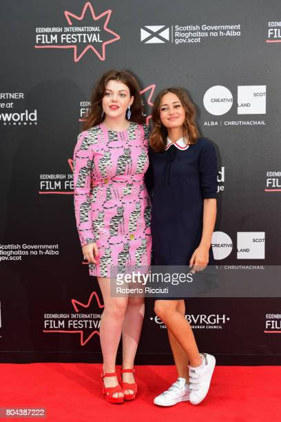 Actresses Georgie Henley and Ella Purnell attend a photocall for the World Premiere of 'Access All Areas' during the 71st Edinburgh International...