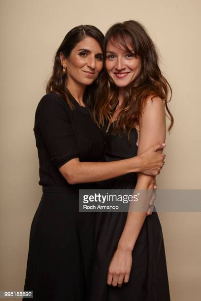 Actresses Geraldine Nakache and Anais Demoustier is photographed for Self Assignment on June 2018 in Cabourg France