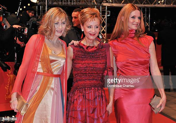 Actresses Gesine Cukrowski, Susanne Lothar and Esther Schweins attend the premiere for 'The International' as part of the 59th Berlin Film Festival...