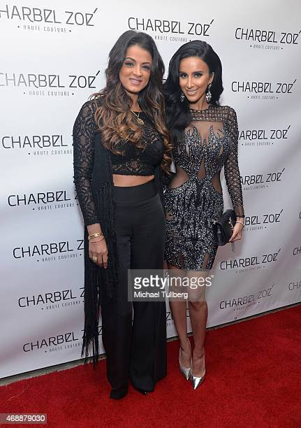 Actresses GG Gharachedaghi and Lily Ghalichi attend the launch party of designer Charbel Zoe's new Los Angeles flagship store at Charbel Zoe Haute...