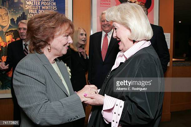 Actresses Gigi Perreau and Lori Nelson attend the AMPAS Centennial Celebration for Barbara Stanwyck on May 16 2007 in Los Angeles California
