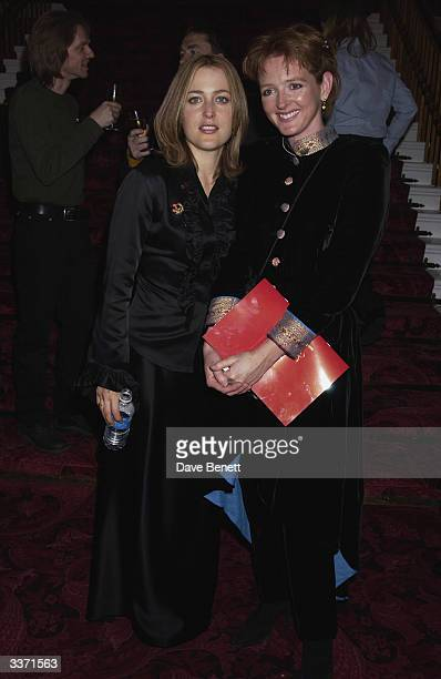 Actresses Gillian Anderson and Serena Gordon at the UK Neurofibromatosis Association 20th Anniversary Gala Concert held at the Theatre Royal on 12th...