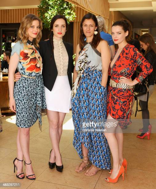 Actresses Gillian Jacobs Zoe ListerJones Creative Digital Director of Vogue Sally Singer and actress Roxane Mesquida attend Vogue Lunch In...