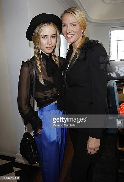 Actresses Gillian Zinser and Kelly Lynch attend Vogue and Valentino Celebrate Spring/Summer 2011 Collection Hosted by Jacqui Getty and Gia Coppola...