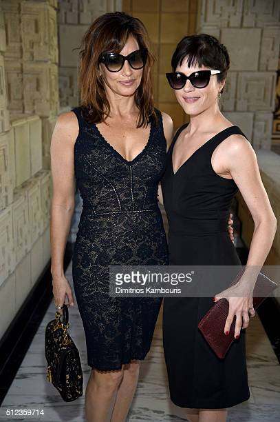 Actresses Gina Gershon and Selma Blair attend the MAC Cosmetics Zac Posen luncheon at the Ennis House hosted by Karen Buglisi Weiler Demi Moore...