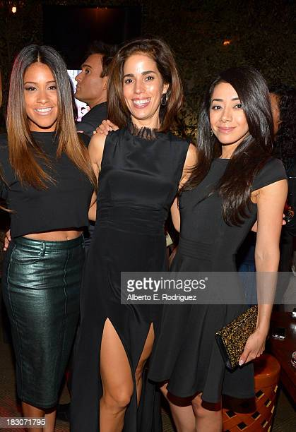 Actresses Gina Rodriguez Ana Ortiz and Aimee Garcia attend Latina Magazine's Hollywood Hot List party at The Redbury Hotel on October 3 2013 in...
