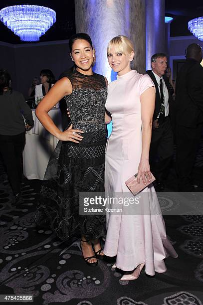 Actresses Gina Rodriguez and Anna Faris attend the 5th Annual Critics' Choice Television Awards at The Beverly Hilton Hotel on May 31 2015 in Beverly...
