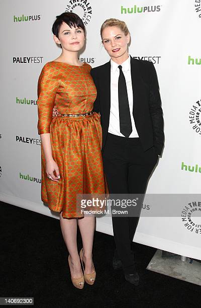 Actresses Ginnifer Goodwin and Jennifer Morrison attend The Paley Center For Media's PaleyFest 2012 Honoring 'Once Upon A Time' at the Saban Theatre...