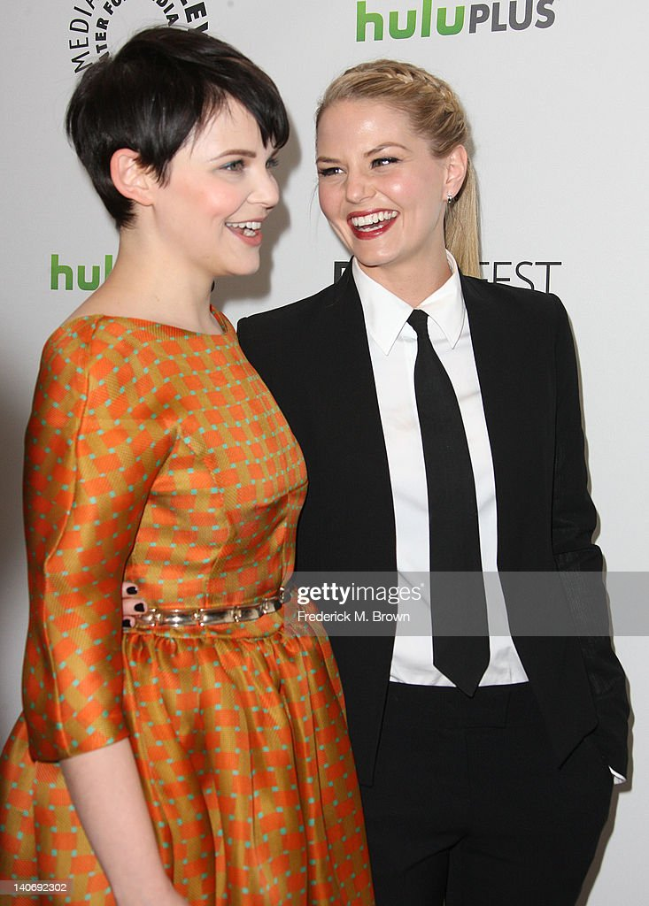 Actresses Ginnifer Goodwin (L) and Jennifer Morrison attend The Paley Center For Media's PaleyFest 2012 Honoring 'Once Upon A Time' at the Saban Theatre on March 4, 2012 in Beverly Hills, California.