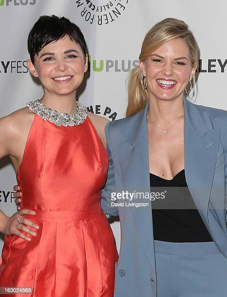 Actresses Ginnifer Goodwin and Jennifer Morrison attend The Paley Center For Media's PaleyFest 2013 honoring Once Upon A Time at the Saban Theatre on...