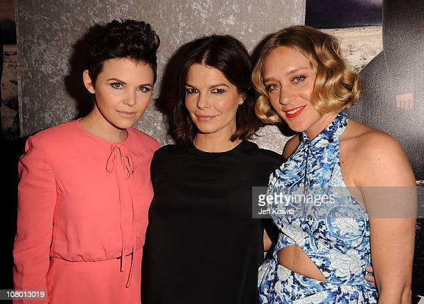 """Actresses Ginnifer Goodwin, Jeanne Tripplehorn, and Chloe Sevigny arrive at HBO's """"Big Love"""" Season 5 Premiere at Directors Guild Of America on..."""
