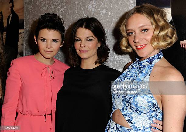 """Actresses Ginnifer Goodwin, Jeanne Tripplehorn and Chloe Sevigny arrive at HBO's """"Big Love"""" Season 5 Premiere held at the Directors Guild Of America..."""