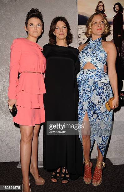 Actresses Ginnifer Goodwin Jeanne Tripplehorn and Chloe Sevigny arrive at HBO's Big Love Season 5 Premiere at Directors Guild Of America on January...