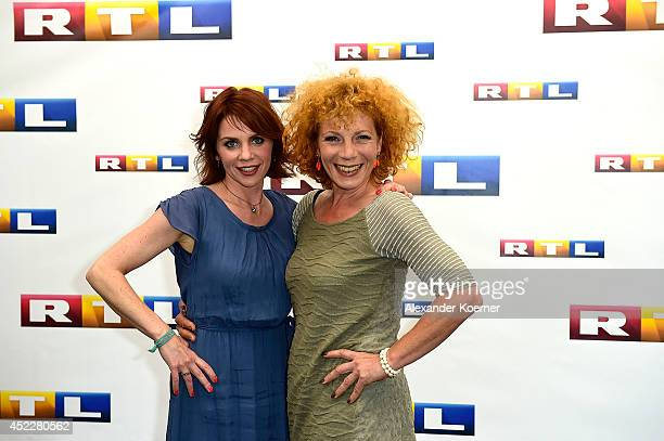Actresses Gisa Zach and Nina Hoger attend the offical Television programmpreview of german television production RTL on July 17 2014 in Hamburg...