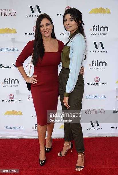 Actresses Gisella Marengo and Gabriella Wright attend the 'September Of Shiraz' TIFF dinner hosted by Holliswealth during the 2015 Toronto...