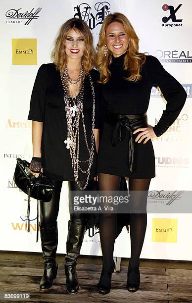 Actresses Giulia Verdone and Ingrid Muccitelli attends Valentina De Laurentis Spring / Summer 2009 new collection on November 14, 2008 in Rome, Italy.