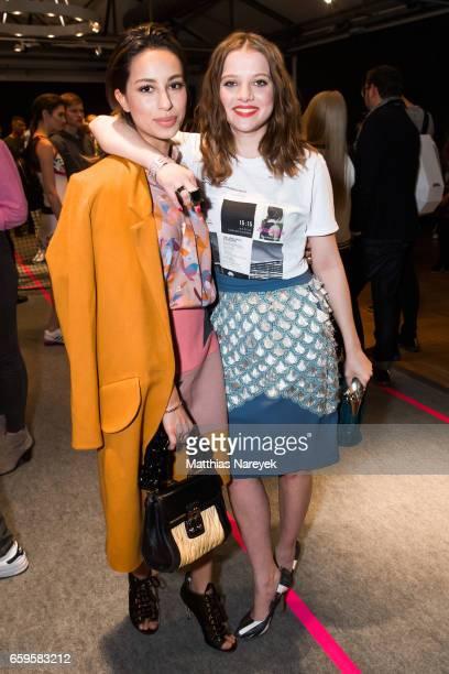 Actresses Gizem Emre and Jella Haase attend the BIDI BADU by Kilian Kerner presentation at Ellington Hotel on March 28 2017 in Berlin Germany
