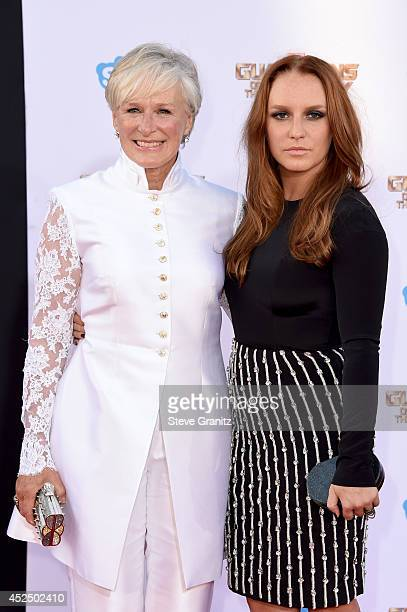 Actresses Glenn Close and Annie Maude Starke attend Marvel's 'Guardians Of The Galaxy' Los Angeles Premiere at the Dolby Theatre on July 21 2014 in...