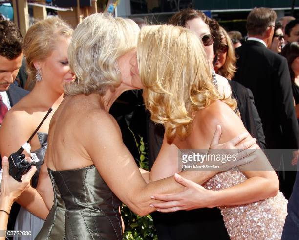 Actresses Glenn Close and Claire Danes attend the 62nd Annual Primetime Emmy Awards at Nokia Theatre Live LA on August 29 2010 in Los Angeles...