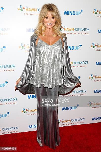 Actresses Goldie Hawn arrives at Goldie Hawn's inaugural 'Love In For Kids' benefiting the Hawn Foundation's MindUp program at Ron Burkle's Green...
