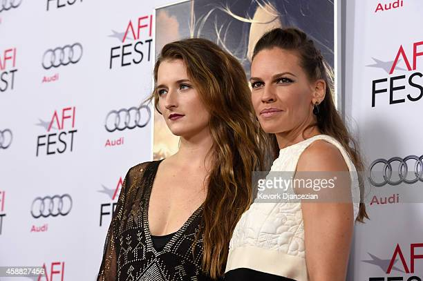 Actresses Grace Gummer and Hilary Swank attend the screening of 'The Homesman' during AFI FEST 2014 presented by Audi at Dolby Theatre on November 11...