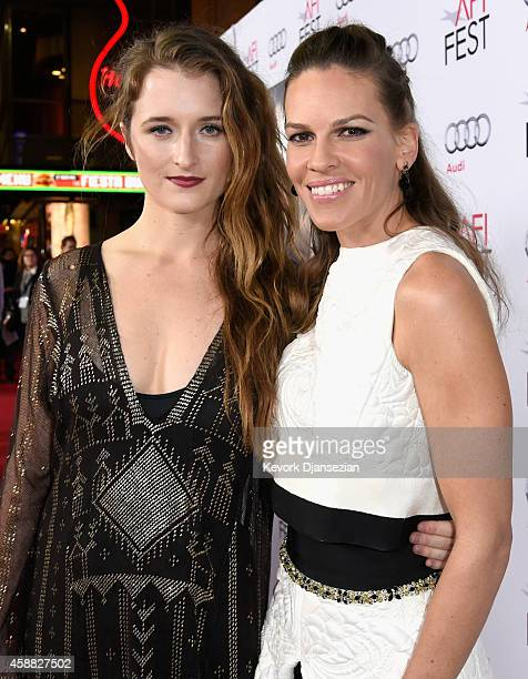 """Actresses Grace Gummer and Hilary Swank attend the screening of """"The Homesman"""" during AFI FEST 2014 presented by Audi at Dolby Theatre on November..."""