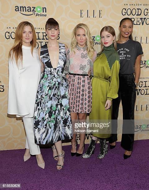 Actresses Grace Gummer Erin Darke Anna Camp Genevieve Angelson and Joy Bryant attend the 'Good Girls Revolt' New York Screening at the Joseph Urban...