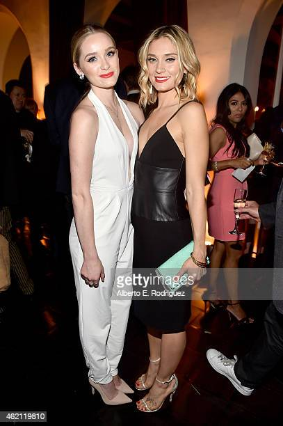 Actresses Greer Grammer and Spencer Grammer attend Entertainment Weekly's celebration honoring the 2015 SAG awards nominees at Chateau Marmont on...
