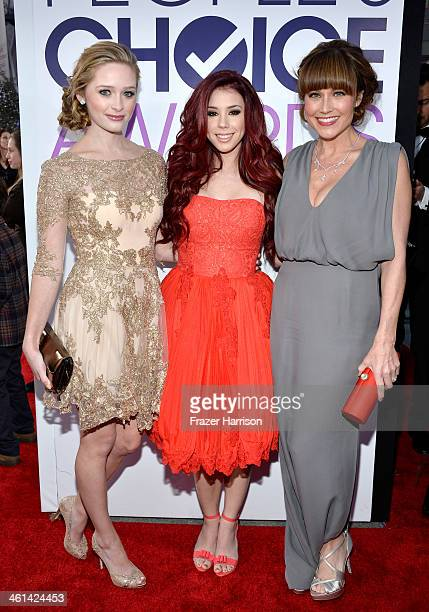 Actresses Greer Grammer Jillian Rose Reed and Nikki DeLoach attend The 40th Annual People's Choice Awards at Nokia Theatre LA Live on January 8 2014...