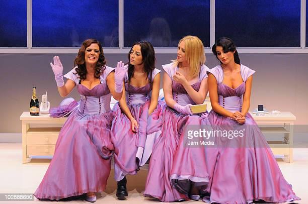 Actresses Griselda Contreras, Marimar Vega, Erika de la Rosa and Paola Nunez in action during the premiere of the play Cinco mujeres usando el mismo...