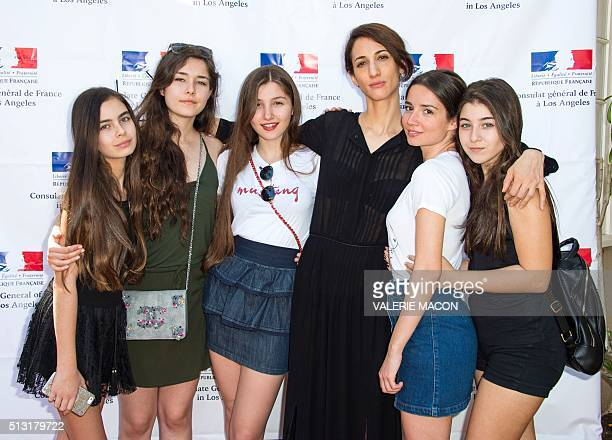 Actresses Gunes Nezihe Sensoy Tugba Sunguroglu Ilayda Akdogan director Deniz Gamze Erguven actresses Elit Iscanand Doga Zeynep Doguslu attend the...