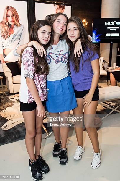 Actresses Gunes Sensoy Elit Iscan and Ilayda Akdogan attend the Guess Portrait Studio at the Toronto International Film Festival on September 11 2015...