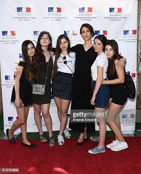 Actresses Gunes Sensoy Tugba Sunguroglu and Ilayda Akdogan director Deniz Gamze Erguven and actresses Elit Iscan and Doga Zeynep Doguslu attend the...