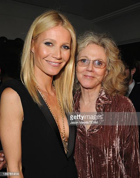 Actresses Gwyneth Paltrow and Blythe Danner attend the Fifth Annual Women In Film PreOscar Cocktail Party at Cecconi's Restaurant on February 24 2012...