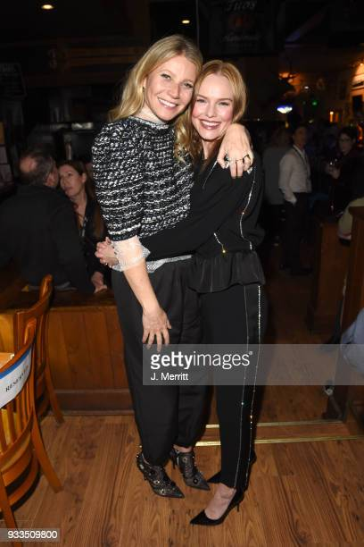 Actresses Gwyneth Paltrow and Kate Bosworth attend the 2018 Sun Valley Film Festival Day 4 Awards Bash held at Whiskey Jaques on March 17 2018 in Sun...